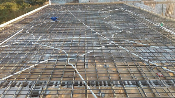 picture showing slab tubing