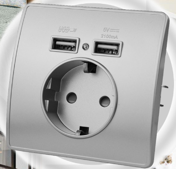 Electrical wall charger socket