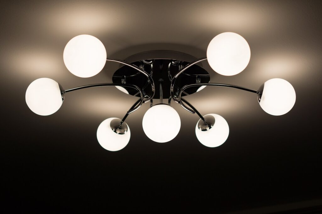ceiling light fitting that is used to beautify a home with light fitting in house.
